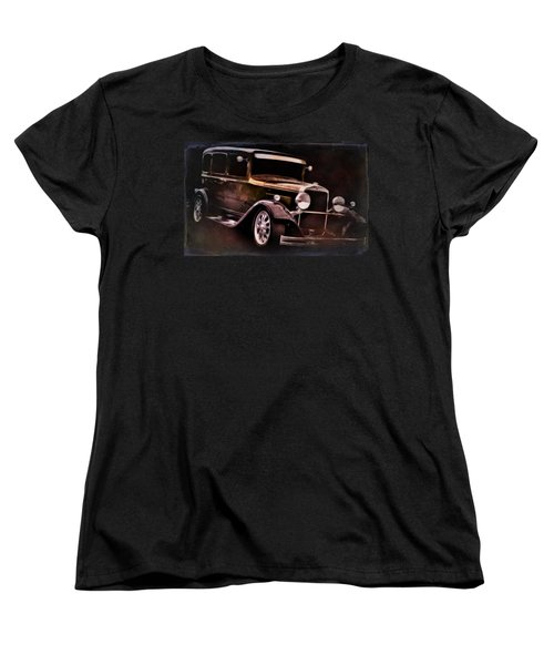 Vintage Car Women's T-Shirt (Standard Cut) featuring the photograph Oldie by Aaron Berg