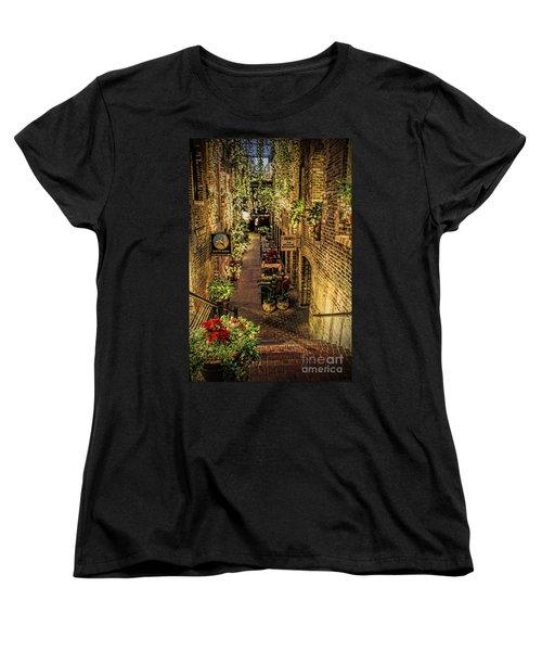 Omaha's Old Market Passageway Women's T-Shirt (Standard Cut) by Elizabeth Winter
