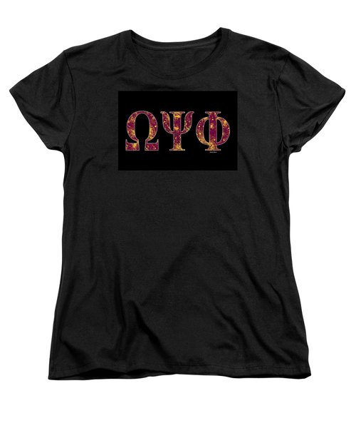 Omega Psi Phi - Black Women's T-Shirt (Standard Cut) by Stephen Younts
