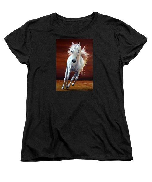 On Fire Women's T-Shirt (Standard Cut) by Vivien Rhyan
