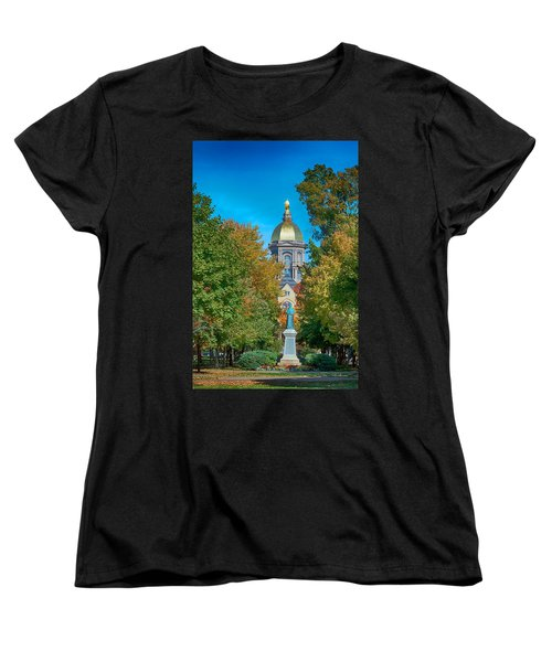 On The Campus Of The University Of Notre Dame Women's T-Shirt (Standard Cut) by Mountain Dreams