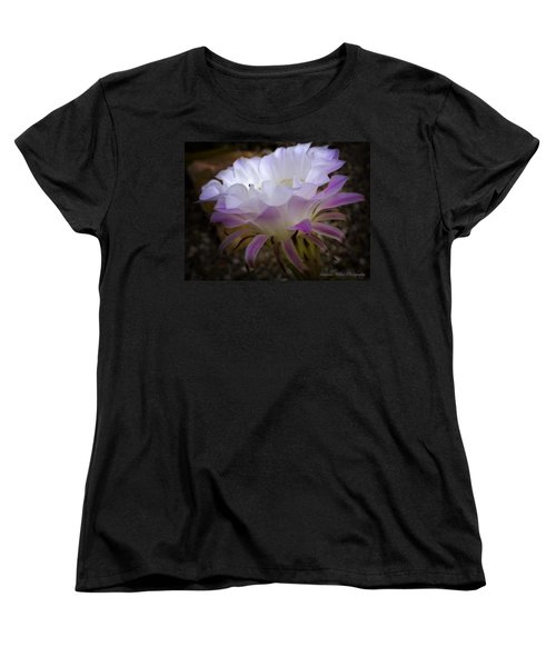 Women's T-Shirt (Standard Cut) featuring the photograph On The Edge by Lucinda Walter