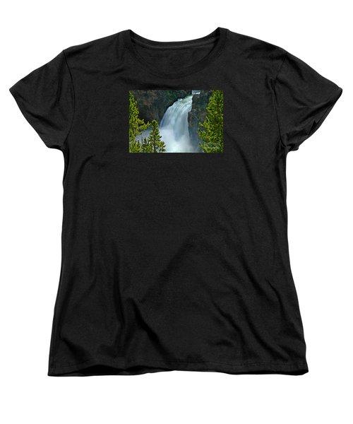 Women's T-Shirt (Standard Cut) featuring the photograph On The Edge by Nick  Boren