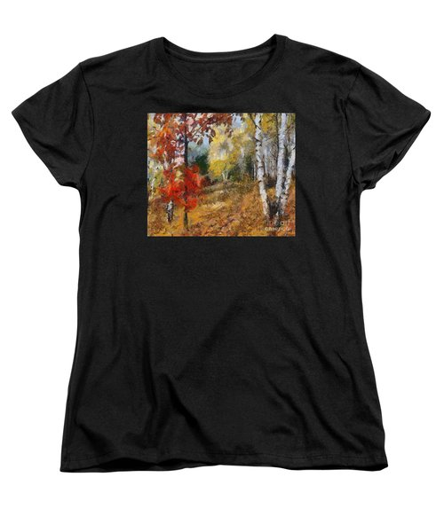 On The Edge Of The Forest Women's T-Shirt (Standard Cut) by Dragica  Micki Fortuna
