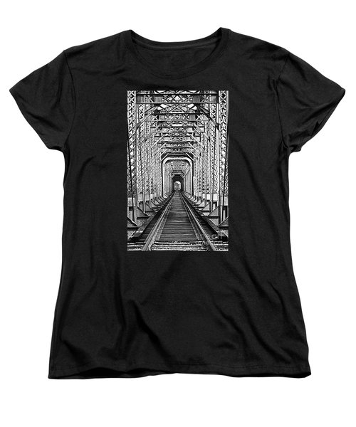 On The Right Track Women's T-Shirt (Standard Cut) by Barbara Chichester