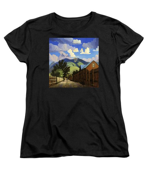 Women's T-Shirt (Standard Cut) featuring the painting On The Road To Lili's by Art James West