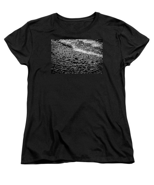 On The Rocks At French Beach Women's T-Shirt (Standard Cut) by Roxy Hurtubise