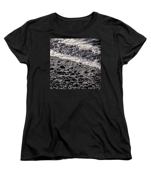 On The Rocks  French Beach Square Women's T-Shirt (Standard Cut) by Roxy Hurtubise
