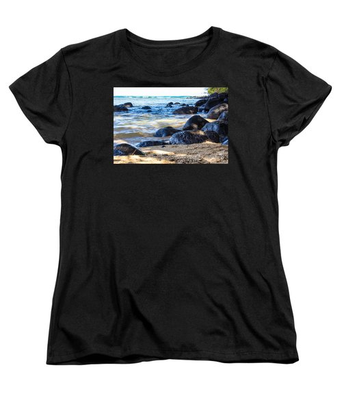Women's T-Shirt (Standard Cut) featuring the photograph On The Rocks by Suzanne Luft