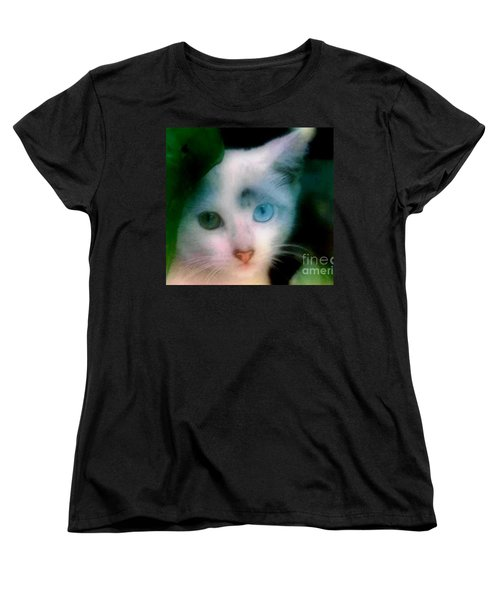 Women's T-Shirt (Standard Cut) featuring the photograph One Blue One Green  by Michael Hoard