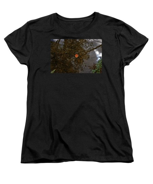 Women's T-Shirt (Standard Cut) featuring the photograph One Leaf by Jeremy Rhoades