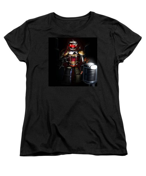 One Man Band Women's T-Shirt (Standard Cut) by Alessandro Della Pietra