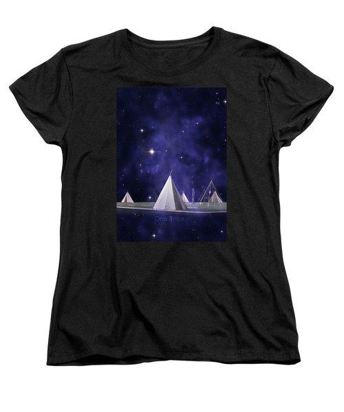 One Tribe Women's T-Shirt (Standard Cut) by Laura Fasulo