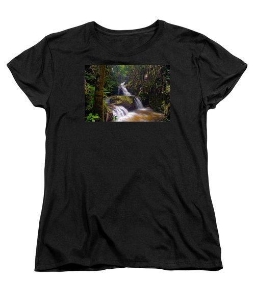 Women's T-Shirt (Standard Cut) featuring the photograph Onomea Falls by Jim Thompson