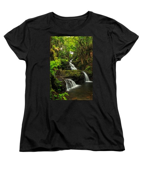 Onomea Falls Women's T-Shirt (Standard Cut) by James Eddy