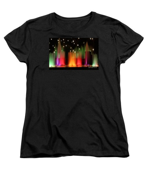 Open Air Theatre Rainbow Fountain Women's T-Shirt (Standard Cut) by Living Color Photography Lorraine Lynch