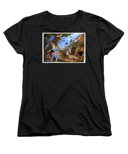 Women's T-Shirt (Standard Cut) featuring the painting Open Sesame by Reynold Jay
