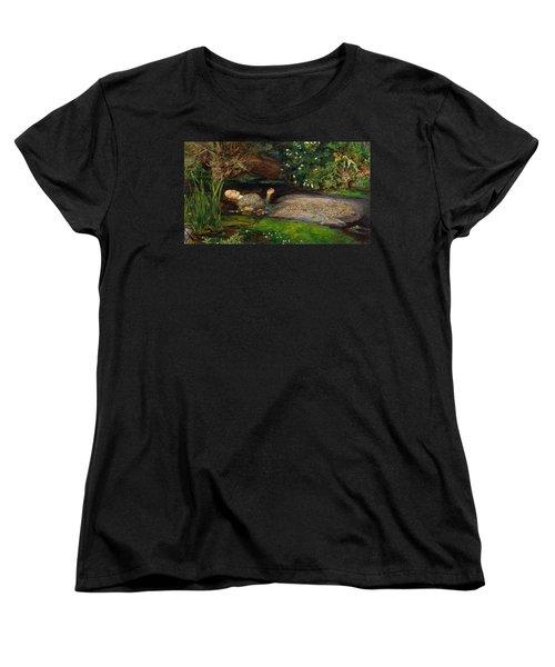 Ophelia  Women's T-Shirt (Standard Cut) by John Everett Millais