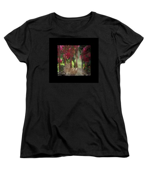 Women's T-Shirt (Standard Cut) featuring the photograph Orange Cat In The Shade by Absinthe Art By Michelle LeAnn Scott
