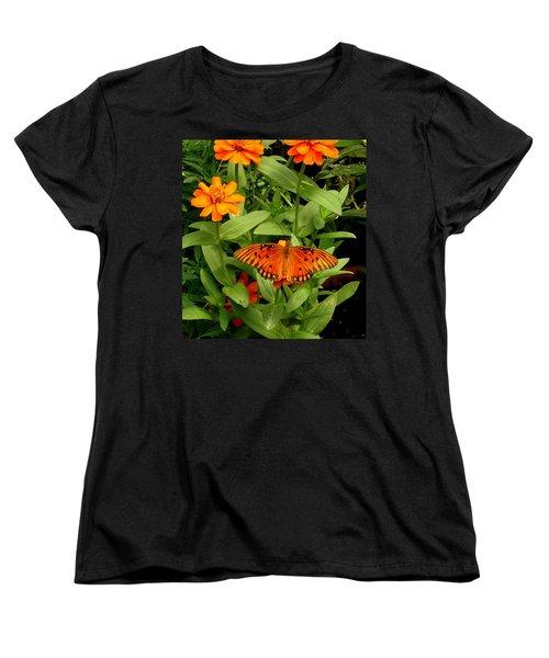 Orange Creatures Women's T-Shirt (Standard Cut)