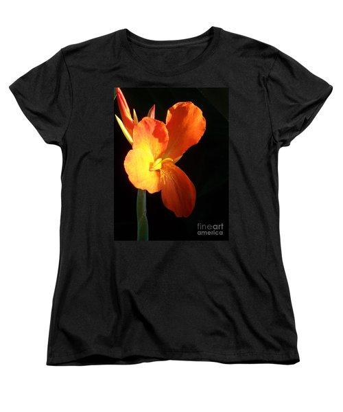 Orange Flower Canna Women's T-Shirt (Standard Cut) by Eric  Schiabor