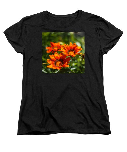 Women's T-Shirt (Standard Cut) featuring the photograph Orange Flowers by Jane Luxton