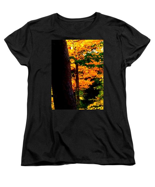 Orange Foliage Women's T-Shirt (Standard Cut) by Denyse Duhaime