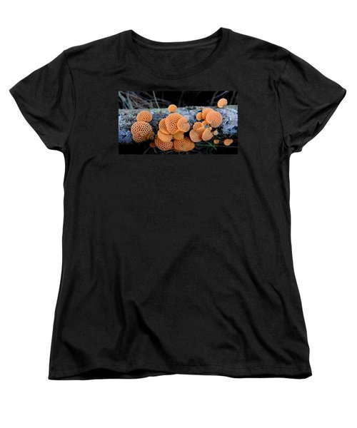 Orange Fungus Women's T-Shirt (Standard Cut) by Pamela Walton