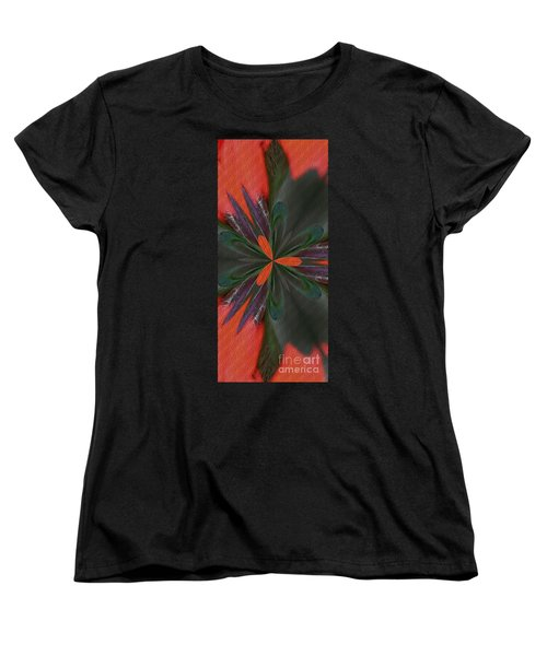 Orange Green And Purple Women's T-Shirt (Standard Cut) by Smilin Eyes  Treasures