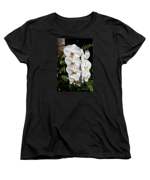 Orchids Anna Women's T-Shirt (Standard Cut) by The Art of Alice Terrill
