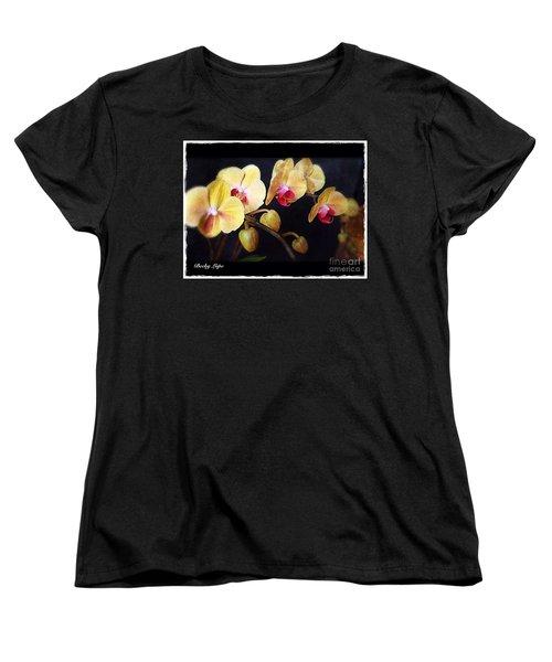Orchids Arise Women's T-Shirt (Standard Cut) by Becky Lupe