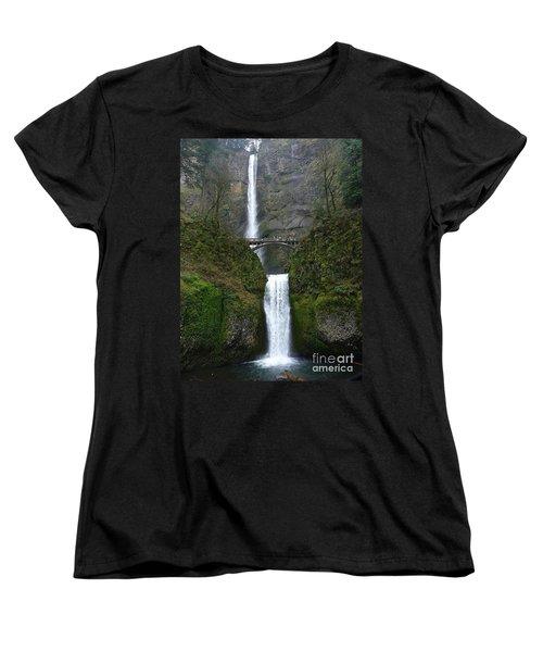 Oregon Long Shot Of  Falls Women's T-Shirt (Standard Cut) by Susan Garren