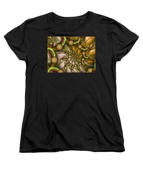 Women's T-Shirt (Standard Cut) featuring the digital art Organic Playground by Gabiw Art