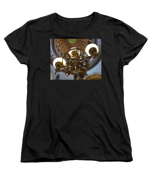 Ornate Lighting - Sprngfield Illinois Capitol Women's T-Shirt (Standard Cut) by Luther Fine Art