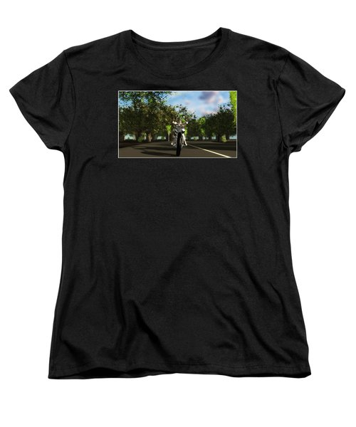 Women's T-Shirt (Standard Cut) featuring the digital art Out For A Ride... by Tim Fillingim