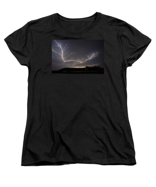 Women's T-Shirt (Standard Cut) featuring the photograph Over The Lake by Charlotte Schafer