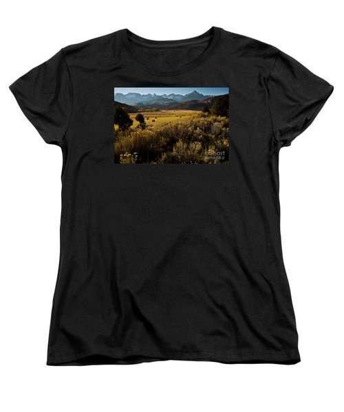 Overlook To Mt. Sneffles Women's T-Shirt (Standard Cut) by Steven Reed