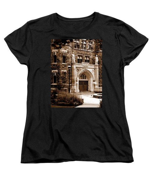 Women's T-Shirt (Standard Cut) featuring the photograph Packard Laboratory Sepia by Jacqueline M Lewis