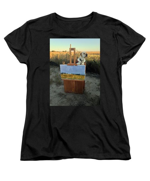 Painterly Lab Women's T-Shirt (Standard Cut) by Mary Ward
