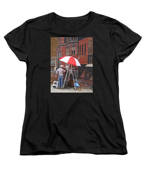 Women's T-Shirt (Standard Cut) featuring the photograph Painting The Past by Ann Horn