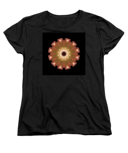 Pale Pink Tulip Flower Mandala Women's T-Shirt (Standard Cut) by David J Bookbinder