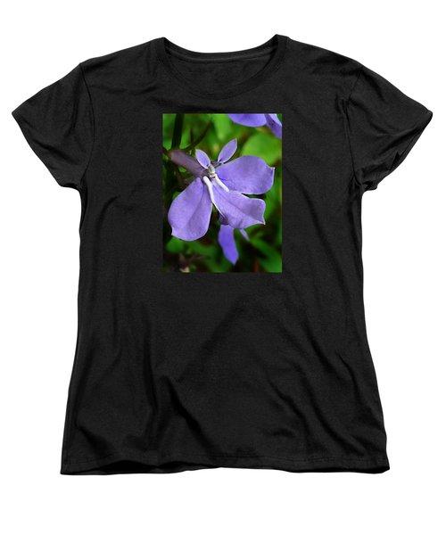 Women's T-Shirt (Standard Cut) featuring the photograph Wild Palespike Lobelia by William Tanneberger