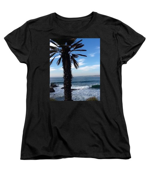 Women's T-Shirt (Standard Cut) featuring the photograph Palm Waves by Susan Garren