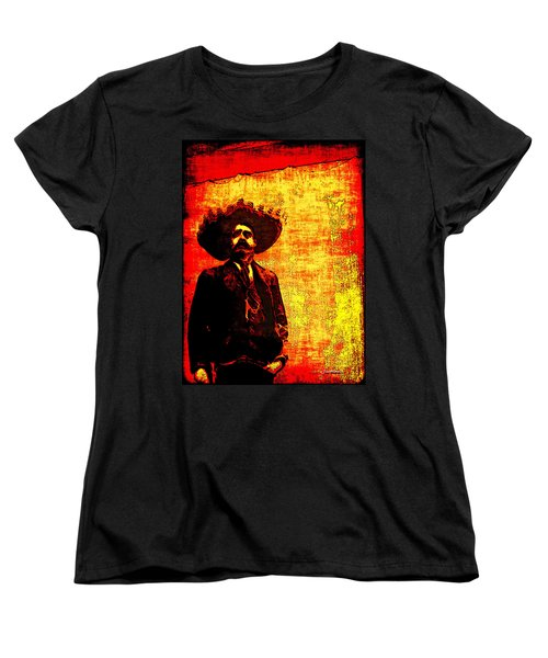 Pancho Villa Women's T-Shirt (Standard Cut) by Joan  Minchak