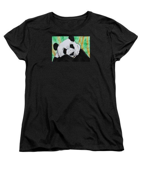 Panda Women's T-Shirt (Standard Cut) by Patricia Olson