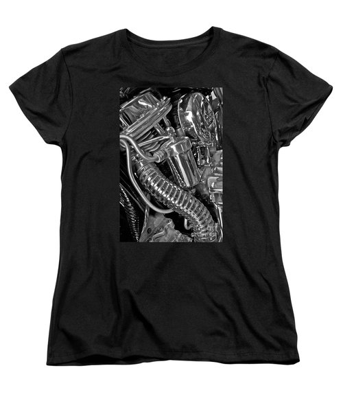Women's T-Shirt (Standard Cut) featuring the photograph Panhead Poetry by Linda Bianic