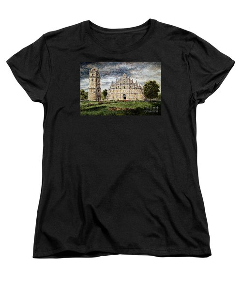 Paoay Church Women's T-Shirt (Standard Cut) by Joey Agbayani