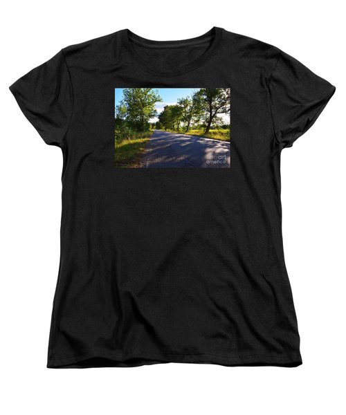Women's T-Shirt (Standard Cut) featuring the photograph Paradise Road by Ramona Matei