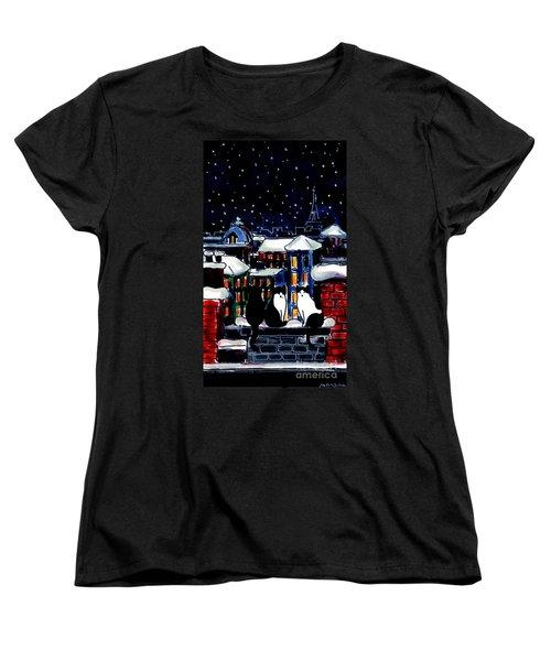 Paris Cats Women's T-Shirt (Standard Cut)
