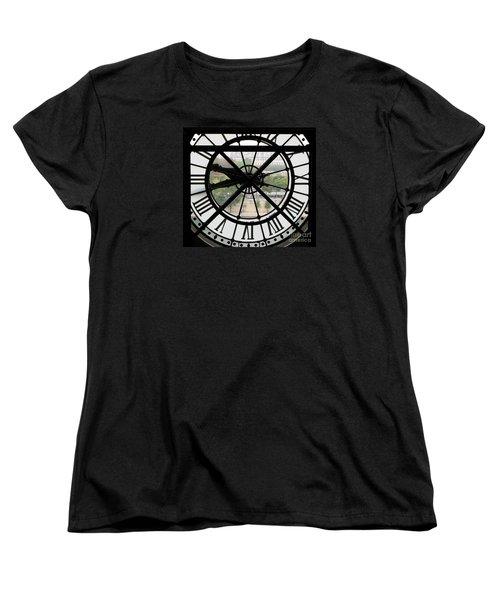 Women's T-Shirt (Standard Cut) featuring the photograph Paris Time by Ann Horn